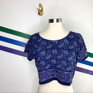 Geeta boho printed crop top